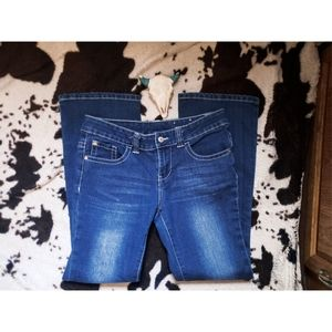 """""""SHYANNE"""" YOUTH STRAIGHT LEG JEANS - BLUE"""